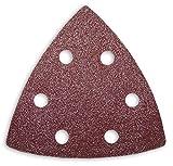 50 Schleifblätter Schleifdreiecke mit 6- Loch 93x93x93 mm verschiedene Körnungen wählbar - für viele Dreieckschleifer (Korn P100)