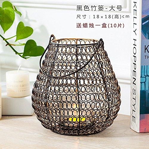 Leuchter Leuchter Retro Schwarz Bambus Bügeleisen Wohnzimmer Tisch Tischdekoration, (Schwarz Halloween Kandelaber)