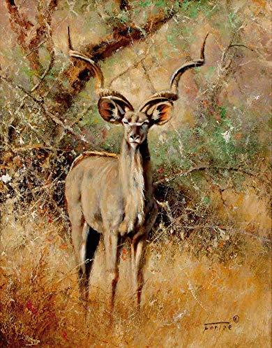 WACYDSD Malen Nach Zahlen Wilde Antilope DIY Einzigartiges Geschenk Handgemaltes Ölgemälde Für Hauptwanddekor Kunstwerke Frameless (Antilope-größe 6)
