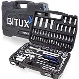BITUXX® 94 teiliges Steckschlüsselset Ratschenkasten Knarrenkasten Nusskasten mit Koffer Werkzeugkoffer Stecknüsse…