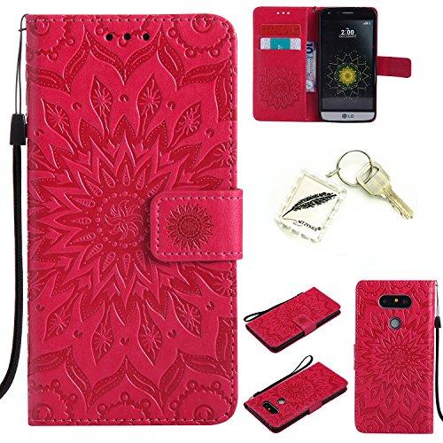 Preisvergleich Produktbild Silikonsoftshell PU Hülle für LG G5 (5,3 Zoll) Tasche Schutz Hülle Case Cover Etui Strass Schutz schutzhülle Bumper Schale Silicone case+Exquisite key chain X1#AD (7)
