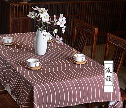 GGCCX Tischläufer Modernen Minimalistischen Kaffee Tischtuch Tischdecken Tischdecke Brown 100*140 (Brown Print Bettwäsche Zebra)