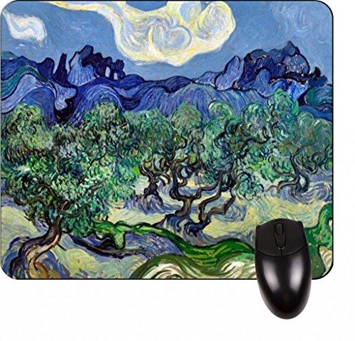 Vincent Van Gogh 's Olive Trees, C. 1889-Vincent Willem van Gogh/post-impressionist/Post-Impressionismus/Niederländisch/Niederlande/Frankreich/Französisch/painter-square Maus Pad-stilvoll, haltbar Office Zubehör und Geschenk -