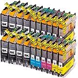 20 AfiD Druckerpatronen zu Brother LC-223 für DCP-J 4120 DW DCP-J 562 DW MFC-J 1100 Series MFC-J 1140 W MFC-J 1150 DW MFC-J 1170 DW MFC-J 1180 DWT MFC-J 4420 DW MFC-J 4425 DW