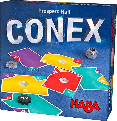 Haba 303497 - CONEX | Cleveres Lege- und Kartenspiel mit vielen Ecken und Kanten | Gesellschaftsspiel für 2-4 Personen | Spiel ab 8 Jahre (Ds Spiele Gesellschaftsspiele)