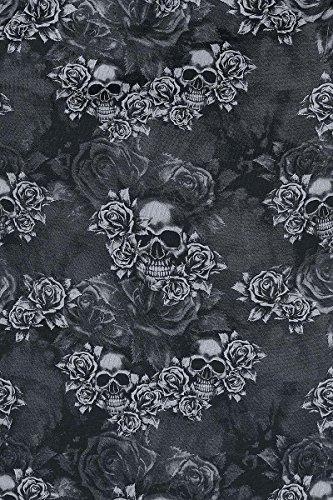Black Premium by EMP Rose Skull Girl-Shirt schwarz Schwarz