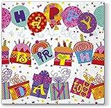 20 Servietten Ausgefallener Geburtstag / Happy Birthday 33x33cm