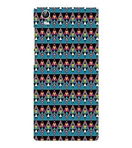 EPICCASE cris cross Mobile Back Case Cover For Vivo Y51 (Designer Case)