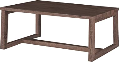 Jiwa Berani Ela Coffee Table, Brown - 110H x 55W x 45D cm