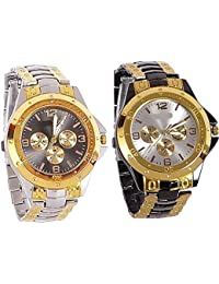 Sajavat Enterprise Combo Of 2 Analogue Watches For Mens(pack Of 2)