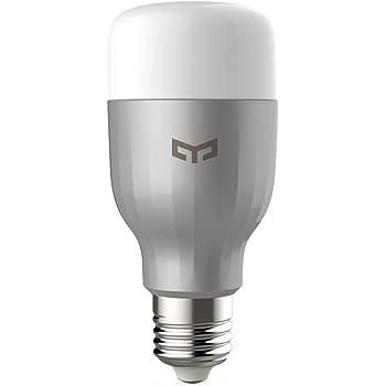 Yeelight A60 9W Smart LED Lumière 600lm rgbw wifi lampe e27 220V, dimmerbar via Yeelight App ou Xiaomi APP, compatible avec Amazon Alexa et Google Assitant