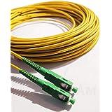 Elfcam - Cavo Fibra Ottica SC/APC per SC/APC Simplex Monomodale 9/125 , Compatibile con TIM Fibra, Vodafone Fibra, Wind Fibra