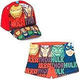ARTESANIA Y DISEÑO TEXTIL, S.A. Bañador Avengers Los Vengadores Tipo Bóxer para Playa o Piscina + Gorra Vengadores para niños