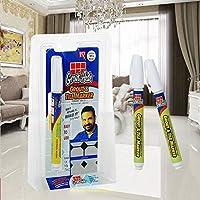 NiceButy Azulejos bolígrafo Azulejos Line Pintura Magic Pen Juntas Herramienta de reparación de Azulejos Cuarto de baño Suelo Cemento Pintura de raviver bolígrafo de reparación de Cuadros de cerámica