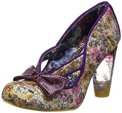 Irregular Choice Hello ha, Scarpe Col Tacco Donna Purple (Purple/Gold)