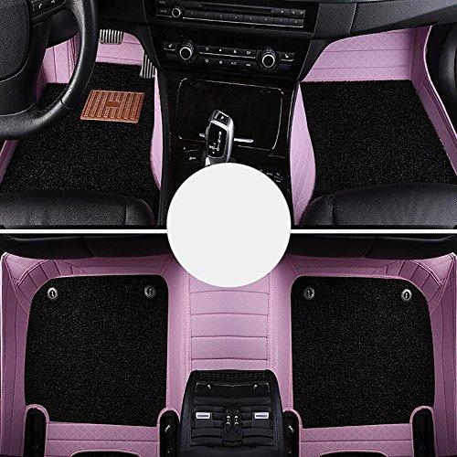 QXXZ Autodecorun Custom Fit PVC Leder Auto Fußmatten Für BMW 1 2 3 4 5 6 7 X1 X3 X4 X5 X6 Z4 Serie Auto Teppich Matten Set Zubehör,E2