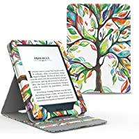 Moko Kindle Paperwhite Hülle - Vertikal Flip Kunstleder Ständer Schutzhülle Smart Cover mit Auto Sleep/Wake für Alle Kindle Paperwhite (2016/2015/2013/2012 Modell mit 6 Zoll Display), Glück Baum