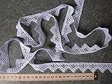 Gardinen Spitzen Borte 2,5cm hoch in weiß Hochglanzgarn