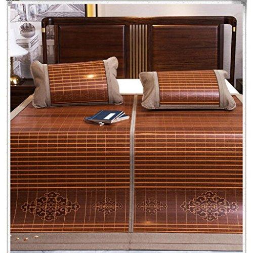 Liuyu · Tapis de bambou double 1.8m lit trois ensembles de pliage d'été 1.5 mètres Single Double 1.8 Tapis de soie de glace d'été 1 Icy sans bavures 2 Duplex disponible 3 Aucune peinture ne se décolor