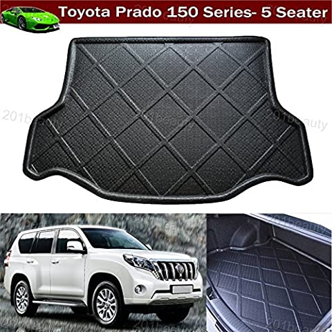 1pcs Car Boot Mat Boot Tray Boot Liner Rear Trunk Cargo Liner Cargo Mat Cargo Tray Floor Mat Carpet Custom Fit For Toyota Land cruiser Prado 150-Series 5 Seater 2007-2017