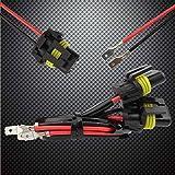 TOMALL H1 H3 zu 9005 9006 Nachrüstung Kabelbaum für LED Scheinwerfer Nebelscheinwerfer Stecker Buchse Adapter 40 cm (16 inch)