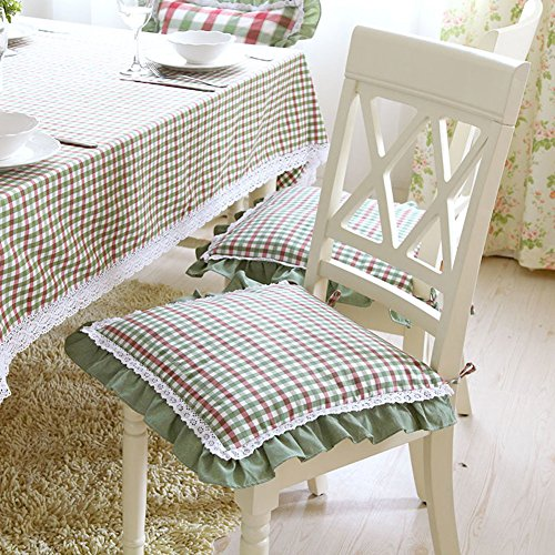 Balze cuscino di fiori di pizzo/ Piccolo verde plaid cuscino estraibile-A 43x43cm(17x17inch)