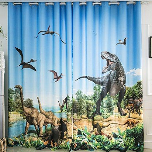 Waple 3d glacier dinosauro jurassic cartoon ragazzo del tema in camera camera parete di sfondo tenda parasole 240x260cm