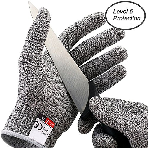 Ebuy.Inc Cut Resistant Gloves for Cutting and Slicing Food Grade High Performance EN388 Certified Level 5 Protection Safety Kitchen Hand Protective Gloves (Medium)