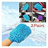 Kicode Microfiber Cleaning Towel Gloves Cloth Delivery Random Microfiber Cloth 18 * 13Cm Washing Kitchen Window Washing Home Cleaning Towel Set of 2