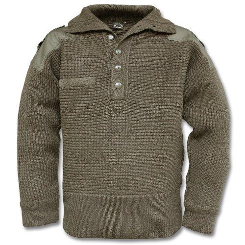 Oliven-armee Pullover-sweatshirt (OESTERR ALPINE SWEATER WOOL OLIVE)