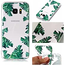 Samsung S7borde caso, Galaxy S7Edge Funda, Transparente claro suave Gel de TPU Protector funda para Samsung Galaxy S7Edge, acogedor cabaña funda de Tpu transparente suave delgado anti-arañazos absorción de golpes suave silicona trasera colorido impreso patrón carcasa de silicona cubierta protectora teléfono móvil para Samsung Galaxy S7Edge de celdas (g9350F) 5.5Inch