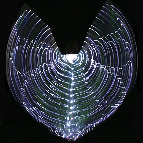 Mit Verstellbarem Stick Frauen Led Licht Bauchtanz Mehrfarbig Isis Flügel Glühend 360 Grad Große Schmetterling Stützen Performance Professionelle Outfit Kostüm . 2# . (Den Flügel Verkauf Kostüme Für)