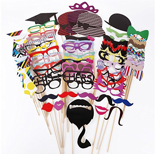 76-pices-Party-Party-Wedding-Selfie-Fotorequisites-Photo-Accessoires-Photo-Booth-Props-Dcoration-Dcorations-Photo-Booth-Props-Funny-and-funny-picture-panel-Carnival-Carnival-Glasses-Masque-Masque-Barb
