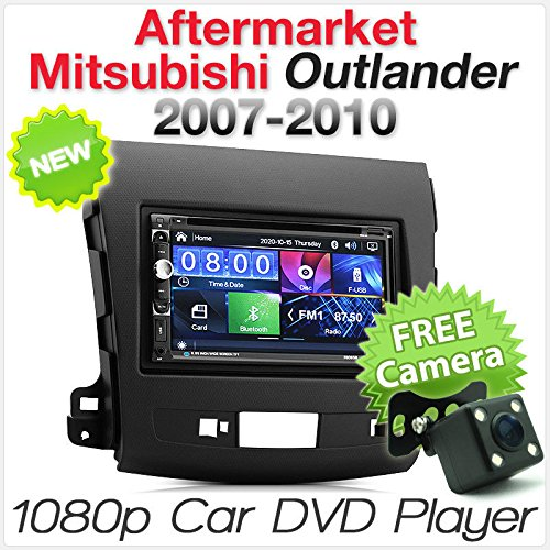 tunez Doppel Din Indash Video Auto DVD Player USB Stereo Radio Für Aftermarket Mitsubishi Outlander GS 2007 2008 2009 2010 Facia Fascia Kit Aftermarket Radio