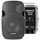 VONYX AP800 Hi-End Passive 8 Inch ABS Lightweight DJ Party PA Speaker 200W