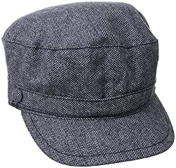 Life is good Women s Mini Herringbone Captains Hat (True Blue), One Size