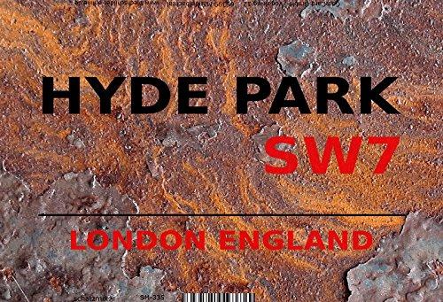 English street sign, London tin sign, schild aus blech, strassenschild Hyde Park London SW7 - rust