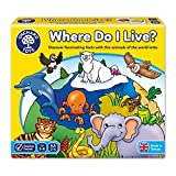 Orchard Toys Kinderspiel Where Do I Live (Wo Lebe (Englischer Sprache)