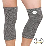 EasyHealth Cotton Sleeves Knee Cap For Joint Pain & Arthritis Relief, Improved Circulation Compression (Large)