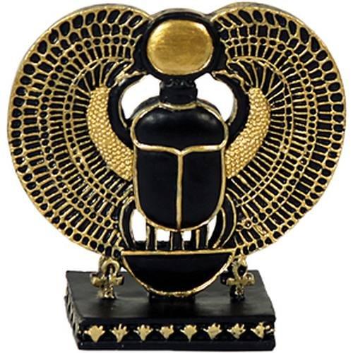 Ägyptischer Scarabäus stehend schwarz-gold