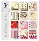 Ursus 71610099 - Premium Glitter Scrapbook paper Block 5, ca. 30,5 x 30,5 cm, 12 Blatt sortiert in 12 Motiven