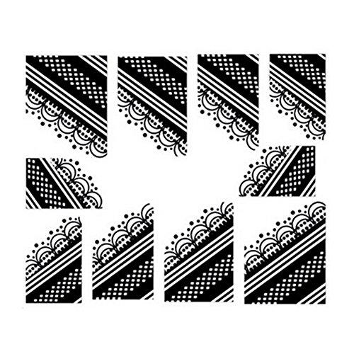 10Pcs Belle Nail Art Conseils Sticker décoration pour les dames, No.11