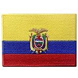 Bandera de Ecuador Ecuatoriano Parche Bordado de Aplicación con Plancha