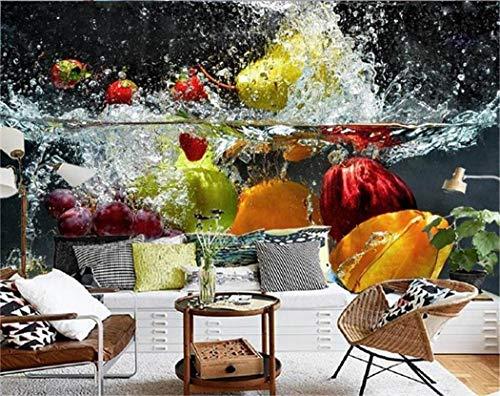 Tapeten Wand-Fototapete-Wohnzimmer Der Tapete 3D Kundenspezifisches Malendes Sofa Fernsehhintergrundtapete Des Obstwassers 3D