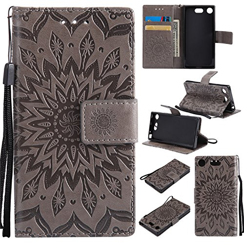 Sony Xperia XZ1 Compact Custom Phone Cases, Nutbro Sony Xperia XZ1 Compact Case, [Stand Feature] Premium Magnetic PU Leather Wallet With Card Slot Folio Flip Case Cover For Sony Xperia XZ1 Compact / XZ1 mini
