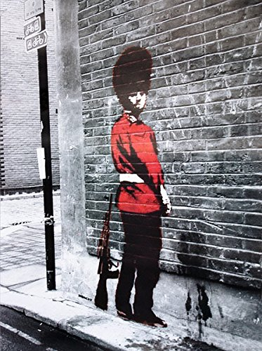 Póster lámina Banksy. Queens Guard