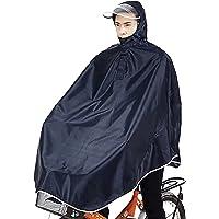 Sorliva Windproof Hooded Cycling Bike Bicycle Raincoat Poncho, Dark Blue, Package Size: 25*20cm