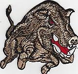 Aufnäher Bügelbild Aufbügler iron on Patch Wütender Eber Bestie Wildschwein Kutte