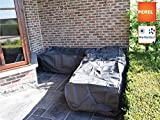 Perel Garden OCLSL250 Schutzhülle Für L-Förmiges Lounge-Set-250 cm, 250 x 90 x 70 cm, Schwarz
