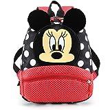 CYSJ Mochilas Escolares, Mochila 3D Minnie Mickey Mouse, Mochila Escolar para Niños, Mochila de Gran Capacidad,Mochila de Via